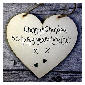 Grandparents Emerald Anniversary Heart Sign