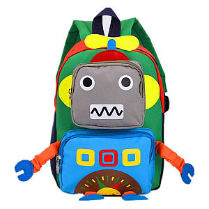 Green Robot Toddler Backpack