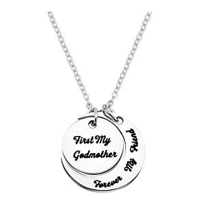 Half Moon Crescent Engraved Necklace
