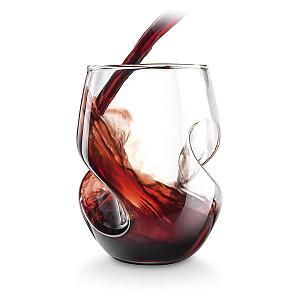 Hand Blown Red Wine Glasses Set