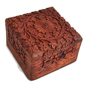Hand Crafted Wooden Jewellery Box