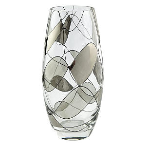 Hand Decorated Glass Vase