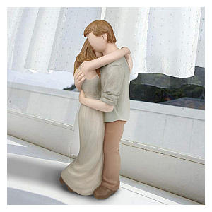 Hand Painted Couples Sculpture