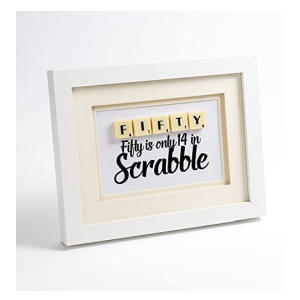 Handmade 50th Birthday Scrabble Letter Print