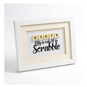 Handmade 50th Scrabble Letter Frame