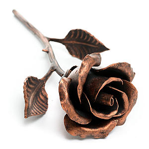 Handmade Copper Stained Rose
