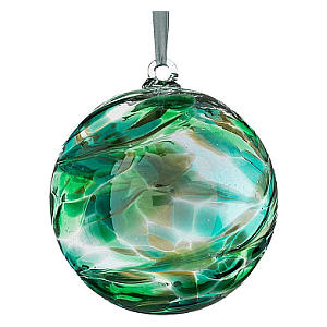 Hanging Emerald Glass Ball