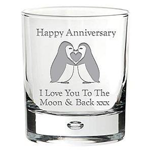 Happy Anniversary Glass Tumbler
