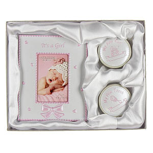 It's a Girl 1st Tooth, Curl and Photo Frame Set
