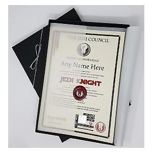 Jedi Knight Certificate - Deluxe Edition