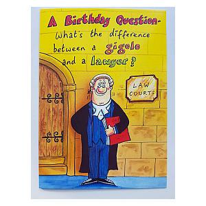 Joke Birthday Card for Lawyer
