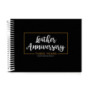 Leather Anniversary Book