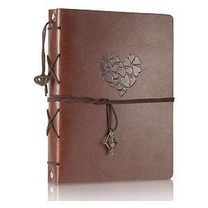 Leather Scrap Book Photo Album