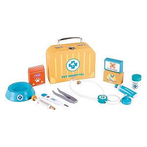 Lelin Wooden Vet Carry Case Kit