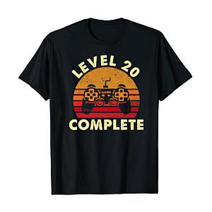 Level 20 Gamer Anniversary T-Shirt