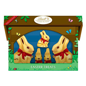Lindt Gold Bunny and Family Hutch