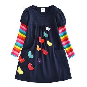 Little Girls Cotton Stripe Dress