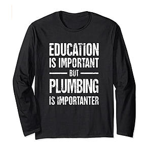 Long Sleeve Plumber T-Shirt