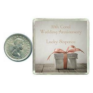 Lucky Anniversary Sixpence