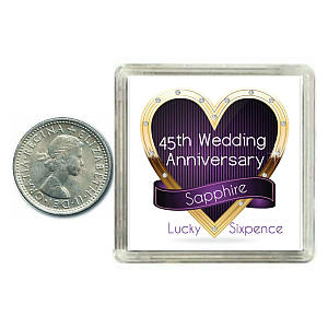 Lucky Anniversary Sixpence