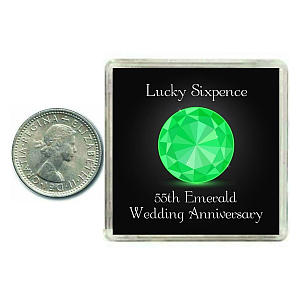 Lucky Sixpence Coin