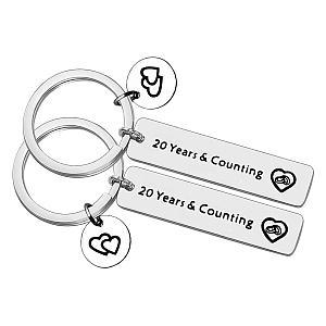 Matching Anniversary Keychains