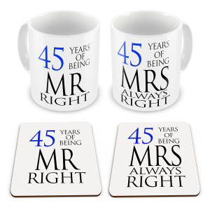 Matching Coaster and Mug Set