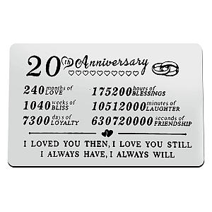 Metal Wallet Anniversary Card