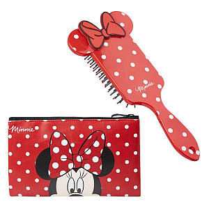Mini Mouse Hair Brush & Make Up Bag