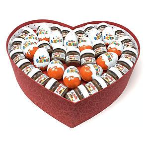 Mini Nutella & Kinder Surprise Heart