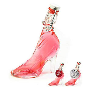 Miniature Glass Lady's Shoe of Turkish Delight Gin