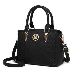 Miss Lulu Top Handle Woven Pattern Bag