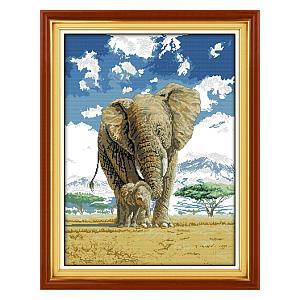Mother & Son Elephant Image Kit