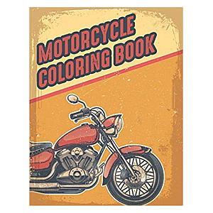 Motorcycle Colouring Book