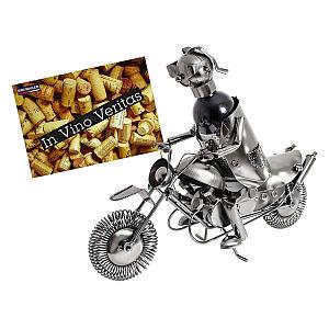 Motorcyclist Metal Sculpture