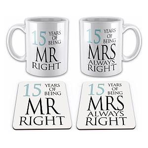 Mr & Mrs Mug and Coaster