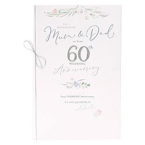 Mum & Dad 60th Anniversary Card