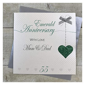 Mum & Dad Emerald Anniversary Card