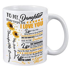 To My Daughter Sunflower Mug