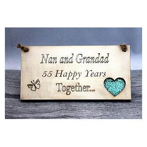 Nan & Grandad Emerald Anniversary Plaque