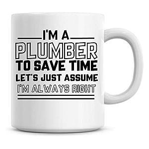 Novelty Plumber Mug