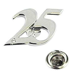 Number 25 Pin Badge