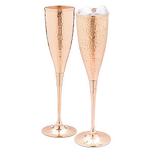 Pair of Copper Champagne Flutes