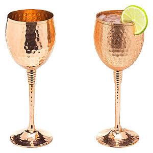 Pair of Copper Wine Glasses