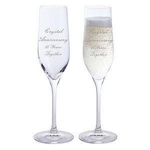 Pair of Personalised Champagne Flutes