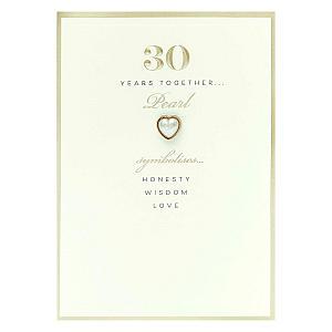 Pearl Anniversary Card