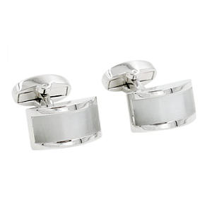 Pearl White Stone Cufflinks
