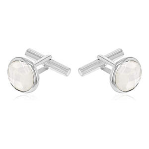 Pearl and Black Onyx Cufflinks