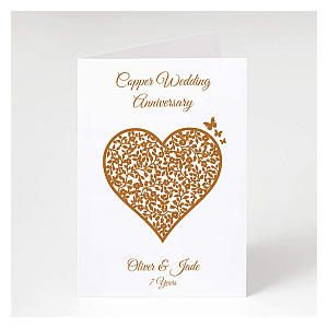 Persoanlised Copper Anniversary Card