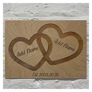 Persoanlised Wooden Plaque